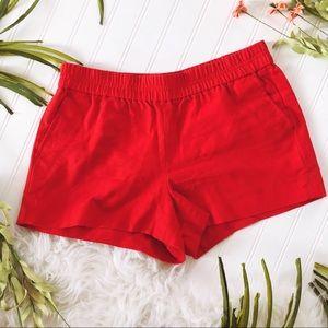 J. Crew Red Boardwalk Shorts Size 6
